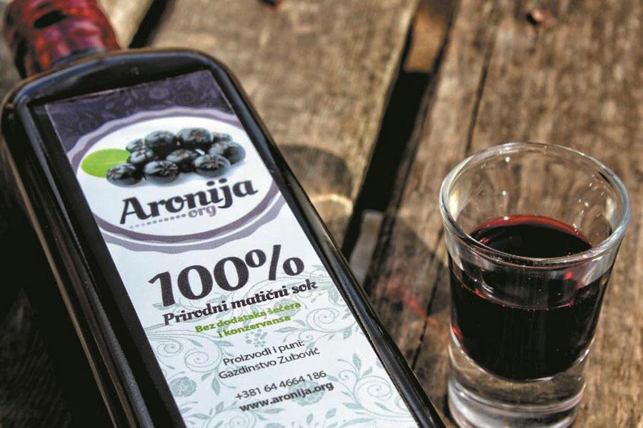 Aronija Zubović 100% matični sok od aronije