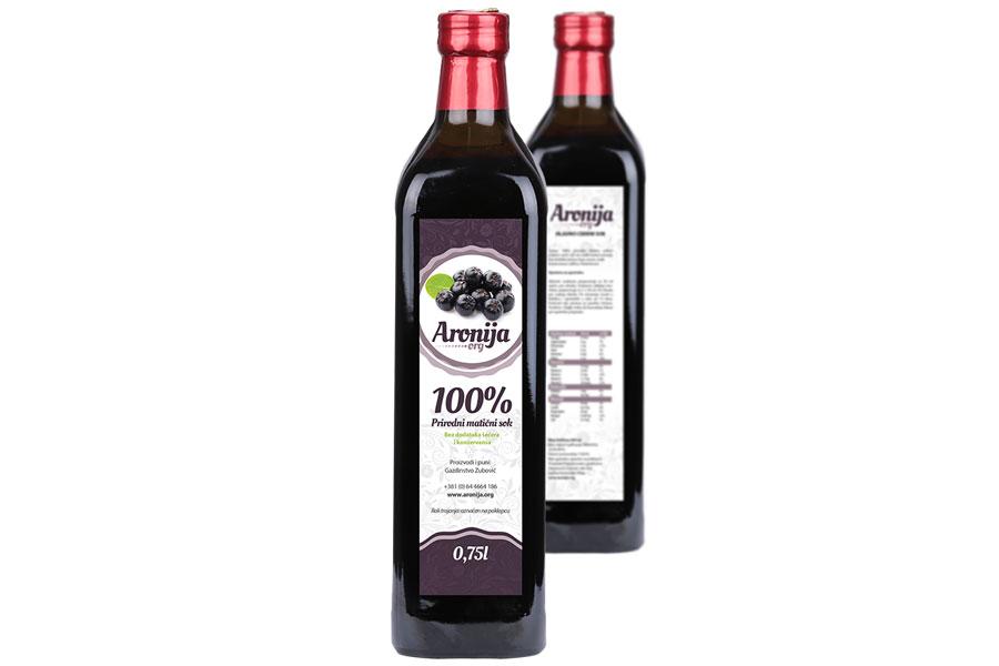Matični sok od aronije 100% - Aronija Zubović